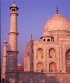 moonrise on Taj Mahal